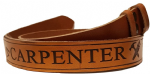 "Carpenter Embossed Full Grain Leather Belt . 1½"" (38mm) Wide"